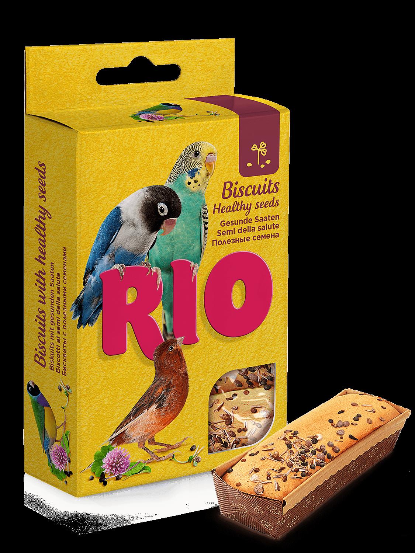 RIO Бисквиты для всех видов птиц с полезными семенами (5шт*7гр)
